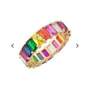 Adina's Jewels Rainbow Ring size 6